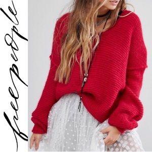 Free People All Mine Oversized Alpaca Sweater XS